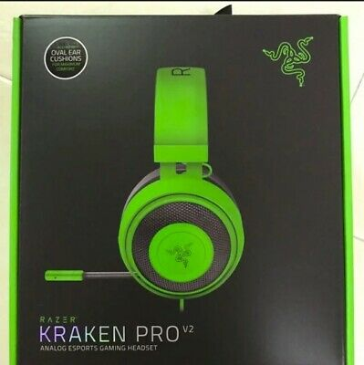 AU119 • Buy Brand New Razer Kraken PRO V2 Gaming Headset Oval Black Over-Ear Headphones
