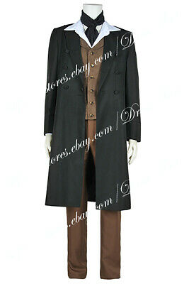 £142.49 • Buy Doctor Buy Who Cosplay The 8th Dr Costume Coat Vest Pants Shirt Outfit Halloween