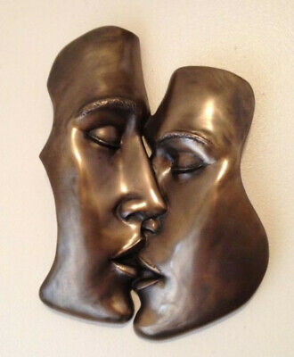 £36.95 • Buy Fantastic Erotic Cold Cast Bronze Wall Plaque  The Kiss  Art Brand New & Boxed