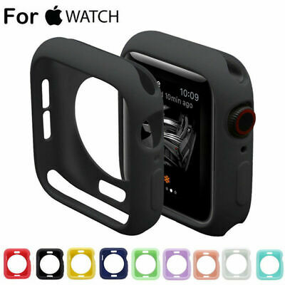$ CDN3.01 • Buy Soft Silicone Rubber Case Protective Cover For Apple Watch Series4 3 2 1 38/44mm