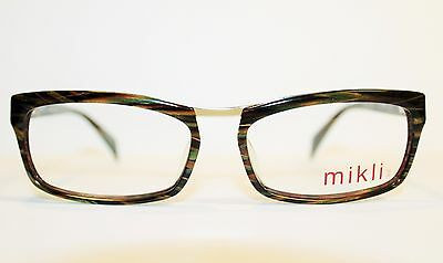 43d92109cf New Alain Mikli Ml1026 0002 Striated Brown Authentic Eyeglasses Rx  56-16-140 •