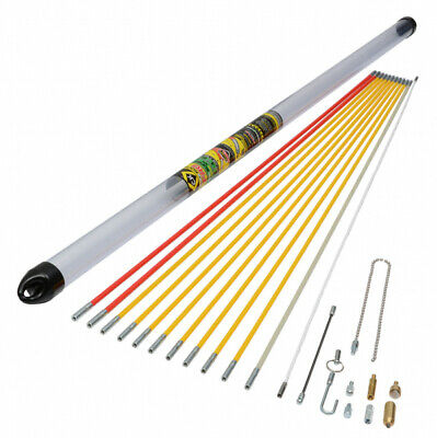 CK Tools T5422 MightyRod Pro Cable Rod Super Set 12M 12 Metre Cable Pulling  • 111.99£
