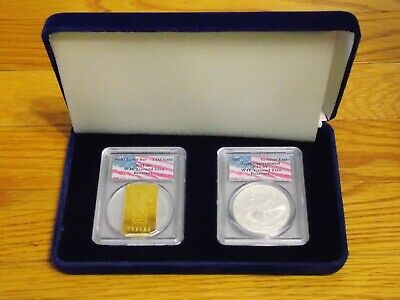 $2199.11 • Buy 2001 1 Of 426 Swiss Gold, Silver Eagle Set PCGS WTC World Trade Center 911