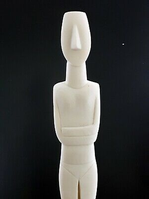 Cycladic Figurine Idol Greek Large Statue Sculpture Museum Copy Cast Marble 23in • 94.07£