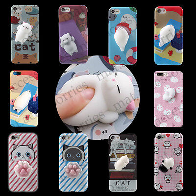 AU5 • Buy Squishy Soft Silicone Lazy Cat Seal Bear Phone Case Cover IPhone 6 6s 7 8 Plus