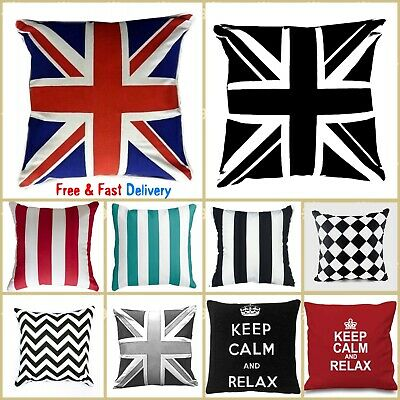 Sofa Pillows 100% Cotton Printed Covers & Cushions, 18  X 18   Buy Single OR Set • 4.70£