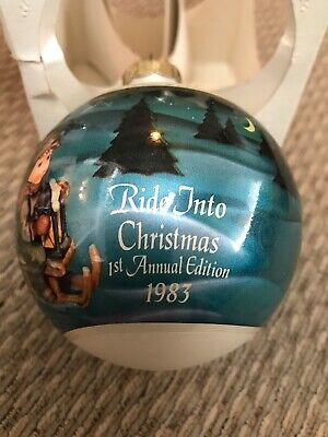 $9.99 • Buy M. J. Hummel Glass Ball Ornament 1983 Ride Into Christmas First Annual Edition
