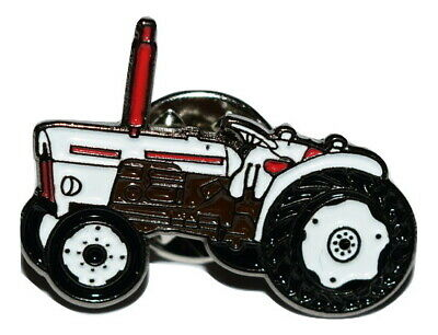 Vintage Tractor Pin Badge Gift Idea NEW Farming Enamel Metal White Brown DB • 3.29£