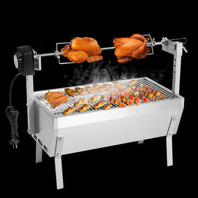 $ CDN374.70 • Buy Stainless Steel BBQ Grill Charcoal Pig Spit Roaster Rotisserie Barbeque 220V