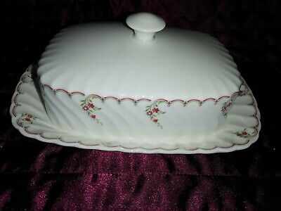 £19.99 • Buy Wedgwood Pink Garland Butter Dish Stand Measures 8.25 X 5.75 Inches Vgc
