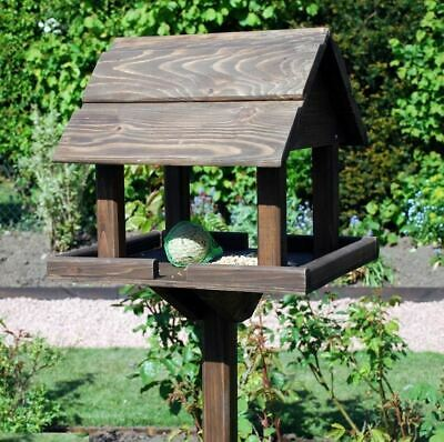 £25.95 • Buy New Premium Wooden Bird Table Garden Birds Feeder Feeding Station Free Standing