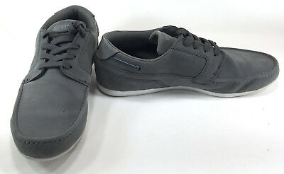 LaCoste Shoes Dreyfus OD SPM Suede Gray/White Sneakers Size 9.5 • 49.65£