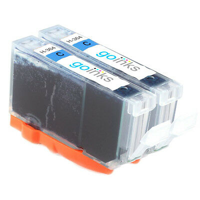 2 Cyan Printer Ink Cartridges To Replace HP 364C Non-OEM / Compatible • 5.90£