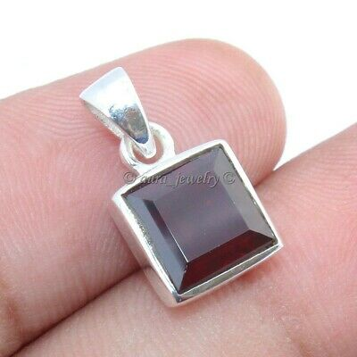 Natural Garnet Gemstone Pendant 925 Sterling Solid Silver Christmas Jewelry • 9.99£