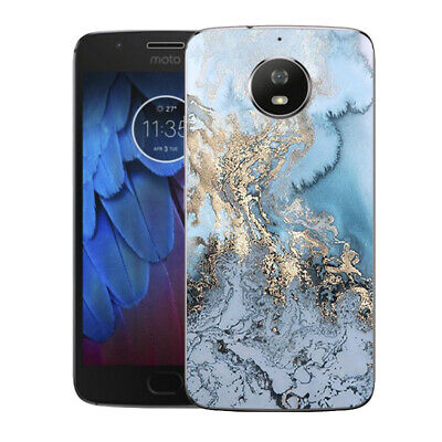 AU4.45 • Buy Soft TPU Case Cover For Motorola Moto E4 E5 G4 G5 Plus Marble Phone Back Skins