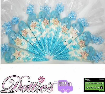 Pre Filled Sweet Cones Party Bags Free P&P Baby Shower Christening Favours Halal • 22.99£
