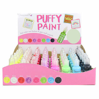 - 3 For 2 - Dovecraft PUFFY PAINT 20ml Bottles Craft Painting Art +++ • 2.25£