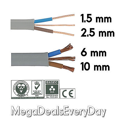 Twin And Earth T&E Electric Cable Wire | Lights Electrical Socket Cooker Shower • 5.69£