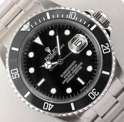 $ CDN12959.44 • Buy Rolex Submariner 16610 Date Stainless Steel 40mm Watch-Black Dial-Ceramic Bezel
