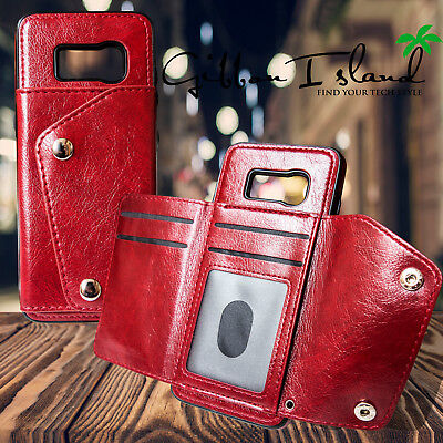 AU18.02 • Buy Samsung S8 Plus Leather Case - Wallet Hybrid Cover With Glass Screen Protector