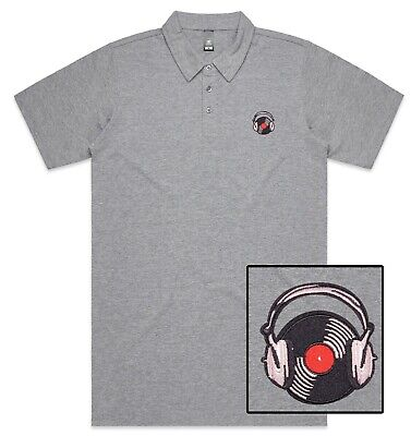 Funny Cool Disk DJ Headphone Vinyl Embroidered Polo Shirt Polo T-shirt  • 19.99£