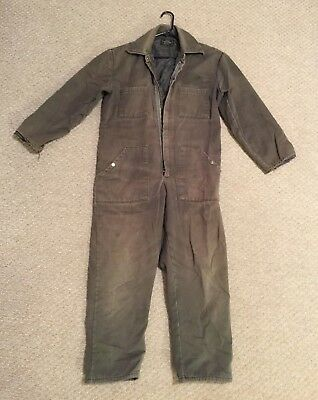 52b809a6f98 Vintage SEARS Work Leisure Coveralls Work Mechanic Jumpsuit Insulated  MEDIUM LG • 34.99