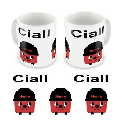 Personalised Childrens Kids Mugs Cup Henry Hoover Any Name Gift Box • 9.99£