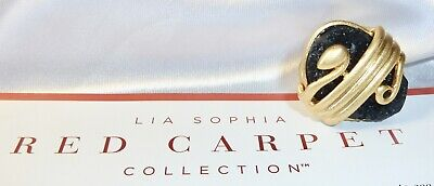 $ CDN29.88 • Buy Lia Sophia Red Carpet Collection *snake* Ring - Black Druzy - Size 8 - 2012/$125