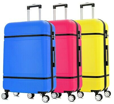 Super Lightweight 4 Wheel Spinner Hard Shell Suitcase Trolley Luggage • 39.95£