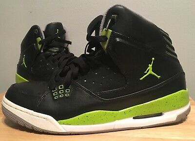 f4bf4d47aecda7 Mens Nike Air Jordan Shoes Size 12 Black Lime Green White Gray Basketball  Shoes • 49.99