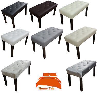 Dressing Bench Table Stool Chair Available In Faux Leather Linen Look Velvet   • 29.95£