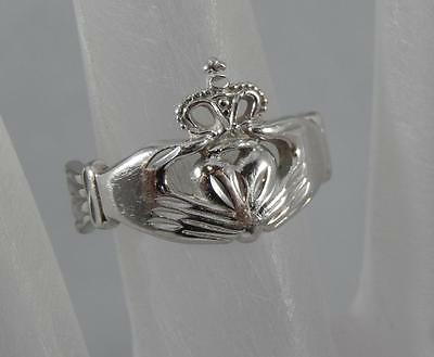 $124.99 • Buy Estate 10 Karat White Gold Claddagh Ring Size 5 1/2 By Michael Anthony 10K F0163