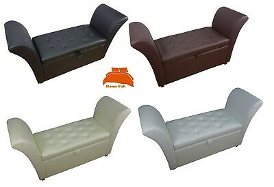 £99.95 • Buy Window Seat Easy To Assemble Faux Leather Ottoman Storage Bed End Sofa Bench