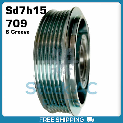 AU131.07 • Buy New A/C Compressor Pulley 6 Groove (Sanden Sd7h15/708/709)