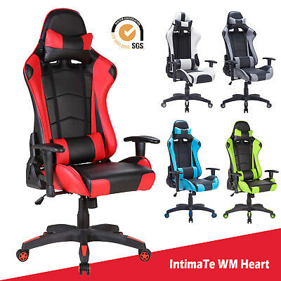 £85.99 • Buy Executive Racing Gaming Computer Office Chair Adjustable Swivel Recliner Leather