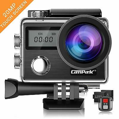 Campark Action Camera 4K 20MP Touch Screen Waterproof Underwater Camcorder • 65.57£