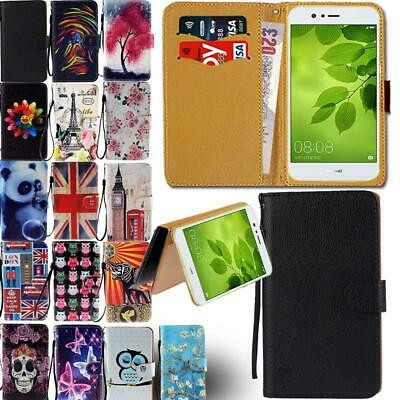 £3.99 • Buy Leather Smart Stand Wallet Card Cover Case For Various Huawei P 8 9 10 20 Phones