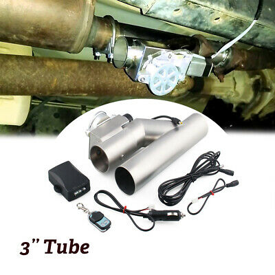 $ CDN149.56 • Buy 3.0'' Headers Y Electric Exhaust Pipe Cutout Dual Valve Stainless Steel System