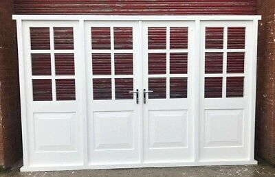 £2990 • Buy Hardwood Timber Georgian French Doors With Sidelights! Bespoke! Made To Measure!