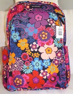 b23e7bc371 VERA BRADLEY Lighten Up Large Laptop Backpack - Floral Fiesta Padded  Section NWT • 84.95