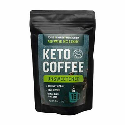 $24.99 • Buy Keto Coffee Instant Mix W/ Real Butter MCT Oil And Himalayan Pink Salt Ketosis