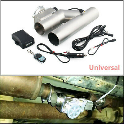 $ CDN158.64 • Buy 1Set 3 Inch 76mm Exhaust Control E-Cut Out Valve Electric Y Pipe With Remote Kit
