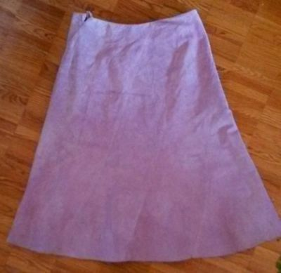 $ CDN42.23 • Buy  Danier Leather Suede Light Pink Rose Blush A Line Midi Skirt  4