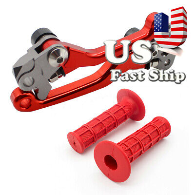 $28.98 • Buy For RM125 RM250 RM85 CR125R CR250R KX250F Pivot Brake Clutch Levers&Grips Set US