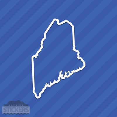 $3.79 • Buy Maine ME State Outline Vinyl Decal Sticker