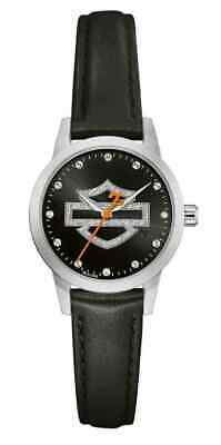 Harley-davidson® Glitter Bar & Shield Steel Women's Bulova Watch 76l181 • 99£
