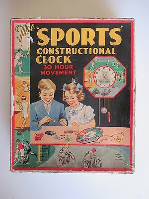 £90.64 • Buy Boxed 1930's Sports Constructional Clock Soccer Tennis Cricket Speedway Sailing