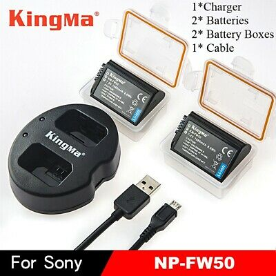 $ CDN41.58 • Buy 1x Dual Charger +2pcs NP-FW50 Battery For Sony A7R2 A7M2 A6300 A6000 A5000 A5100