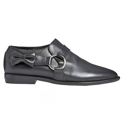 £38.77 • Buy F-Troupe And Son London • DY405 Black Leather Bow Ring Shoe Loafer 38 (37) • NEW
