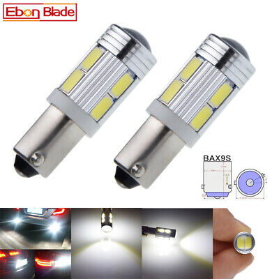 AU4.31 • Buy 2Pcs BAX9S H6W Car Interior LED Light Indicator Side Bulb White Lamp 10SMD 12V